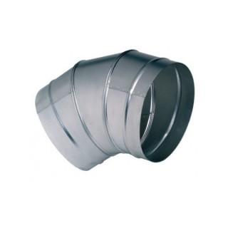 Coude galva 45° - Ø 80 à 1000 mm [- accessoires galvanisés VMC - Unelvent / Atlantic]