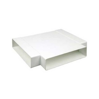 Té 90° horizontal rectangulaire [- conduits PVC de Ventilation - Atlantic]