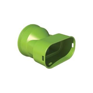 Adaptateur caisson 50x100 et 60x130 - XAC [- Conduits et accessoires VMC en PEHD - Réseau Clip & Go - Atlantic]