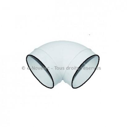 Coude circulaire à joints Ø 100 ou 125 mm - CC [- conduits PVC de Ventilation - Atlantic]