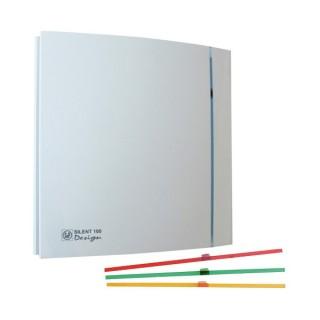 SILENT 100 ECO DESIGN Blanc [- Aérateur axial silencieux à faible consommation - Ventilation mécanique ponctuelle - Unelvent]