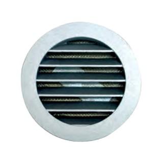Grille circulaire Aluminium Prise / Rejet d'air Ø 100, 125, 160 et 200 mm [- USAV - prises d'air VMC - Unelvent]