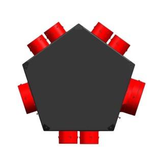Plénum isolé universel d'extraction 5 à 7 piquages [- Répartiteur VMC - Unelvent]