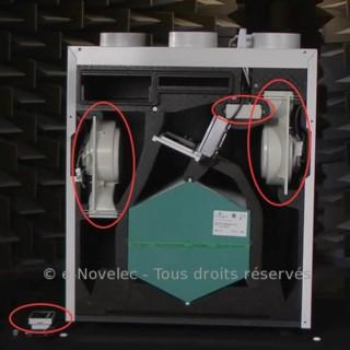 Kit 2 moteurs + Télécommande + Carte pour VMC IDEO HR 325 et 275 Ecowatt Radio [- pièce détachée VMC - Unelvent]