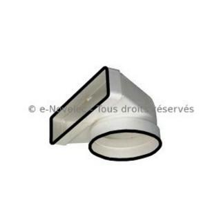 Coude mixte rectangulaire à joints - CDMV [- conduits PVC de Ventilation - Unelvent]