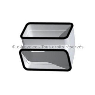 Coude vertical rectangulaire à joints - CVRV [- conduits PVC de Ventilation - Unelvent]