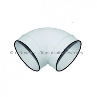 Coude circulaire à 90° à joints - CDCV [- conduits PVC de Ventilation - Unelvent]