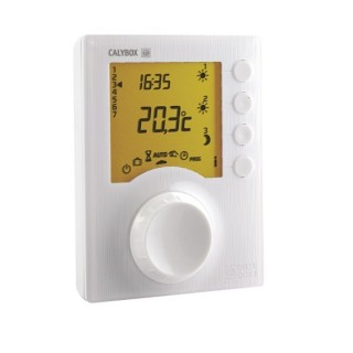 TYBOX 227 [- Thermostat programmable filaire pour chaudière ou PAC non réversible - 230 V - 6 niveaux de consigne - Delta Dore]