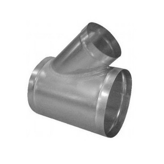 Té oblique 45° galva - Ø 80 à 1000 mm [- accessoires galvanisés VMC - Atlantic / Unelvent / Aldès]