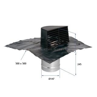 Sortie Chatière Ø 150 mm [- accessoire VMC - Aldès]