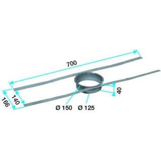 Fixation pour rejet sur tuile à douille Ø 125 et 150 mm [- accessoire VMC - Aldès]