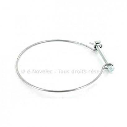 Lot de 10 Colliers de serrage en fil d'acier Ø 80 ou 125 mm [- accessoire VMC - Atlantic]