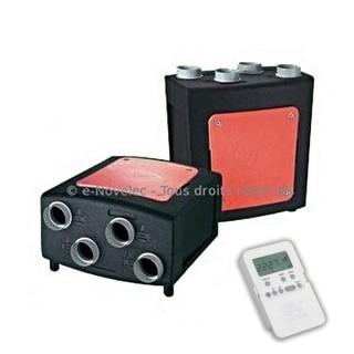 Vort Prometeo HR 400 PLUS (Télécommande radio + By-Pass automatique) [- VMC Double flux haut rendement - Vortice]