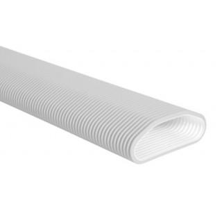 Conduit PEHD Optiflex Ovale - Antistatique et antibactérien - 20 mètres [- Conduits Polyéthylène et accessoires VMC - Aldès]