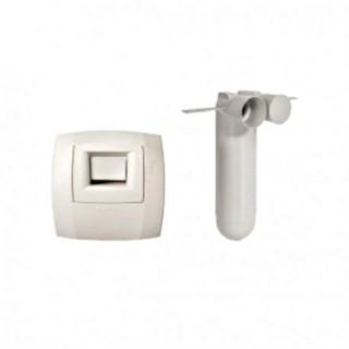 Kit Hygroréable extraction WC W13 - OPTIFLEX Ø 75 [- Kits bouches pour réseau PEHD 75 ext. - Aldès]
