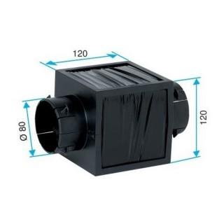 Liaison acoustique Ø 80 mm [- silencieux réseau VMC Double flux - Aldes]