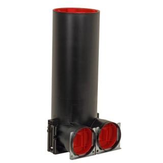 Plénum de bouche coudé TVA-P 75 DN125 - 2 x Ø 75 mm - Hauteur 375 mm [ - Réseau ComfoTube - 990326125 - Zehnder]