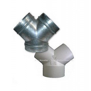 Dérivation PVC ou Galva (culotte) [- accessoire VMC - Unelvent]