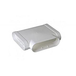 Té horizontal 90° MINIGAINE équivalent Ø 125 mm [- conduits rigides plastique pour ventilation - ALDES]
