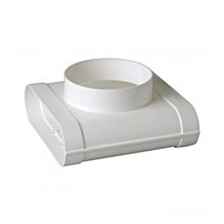Té vertical 90° MINIGAINE pour bouche Ø 125 mm [- conduits rigides plastique pour ventilation - ALDES]