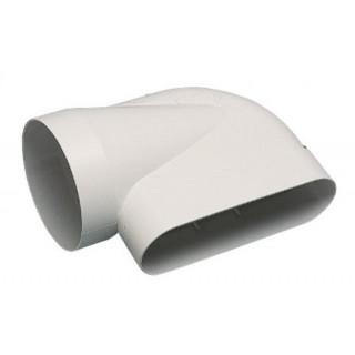 Coude horizontal 90° MINIGAINE pour conduit Ø 125 mm [- conduits rigides plastique pour ventilation - ALDES]