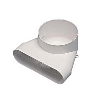 Coude mixte MINIGAINE pour bouche Ø 125 mm [- conduits rigides plastique pour ventilation - ALDES]