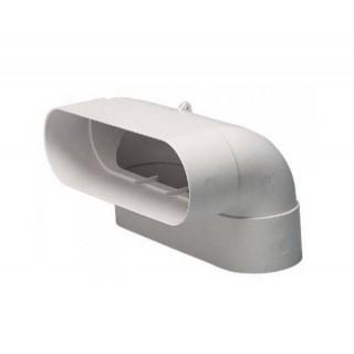 Coude vertical 90° MINIGAINE équivalent Ø 80 et 125 mm [- conduits rigides plastique pour ventilation - ALDES]