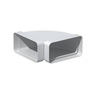 Coude horizontal rectangulaire 90° - CHR [- conduits PVC de Ventilation - Unelvent]