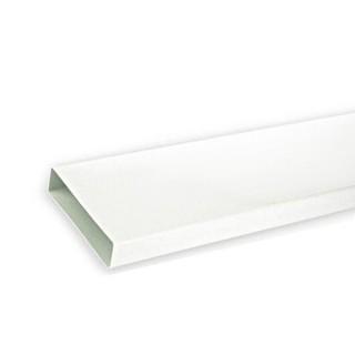 Tube rectangulaire long - TPR - longueur 1,50 m [- conduits PVC de Ventilation - Unelvent]