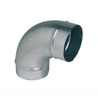 Coude galva 90° - Ø 80 à 1000 mm [- accessoires galvanisés VMC - Unelvent / Atlantic / Aldès]