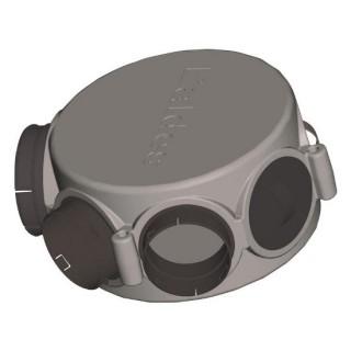 Caisson circulaire isolé 1xØ160 + 1xØ125 + 5xØ80 (ou 6xØ80) Compatible Réseau PEHD 75 [- Répartiteur VMC Double-flux- Aldès]