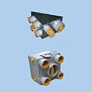 Plénum d'extraction AKOR (5 ou 7 piquages) [- Répartiteur VMC - Unelvent]