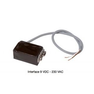 Interface 9 V DC-230V AC pour bouche Bap'SI ou CURVE cuisine / WC à pile [- accessoire VMC - ALDES]