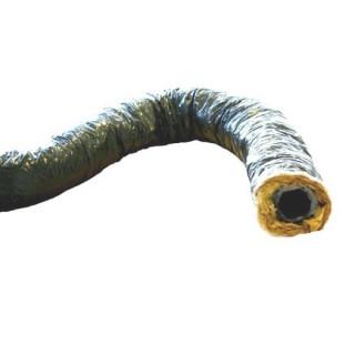 Gaine souple isolée ECOSOFT - Intérieur PVC - sans phtalates - Ø 80, 125, 150, 160 et 200 mm - 6 mètres [- conduits - Unelvent]