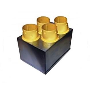 Plénum isolé d'insufflation 4 piquages [- Répartiteur VMC - Unelvent]