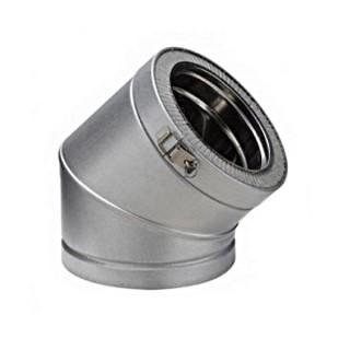 Coude 45° Therminox ZI - EC 45 [- conduits isolés intérieurs - Poujoulat]