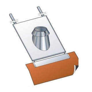 Solin Inox 30 à 45° tuile avec collerette Therminox TZ - SIT45° [- conduits isolés extérieurs - Poujoulat]