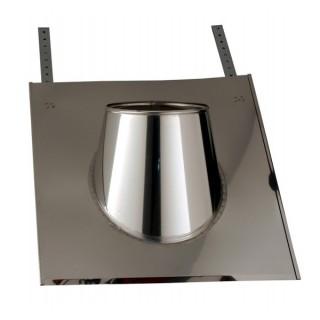 Solin Inox 30 à 45° ardoise avec collerette Therminox TZ - SIA45° [- conduits isolés extérieurs - Poujoulat]