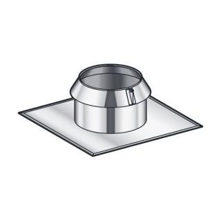 Solin Inox toit plat avec collerette Therminox TZ - SIO [- conduits isolés extérieurs - Poujoulat]