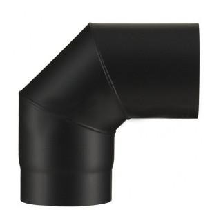 Coude à segments 90° - Noir mat [- Fumisterie émaillée - Poujoulat]