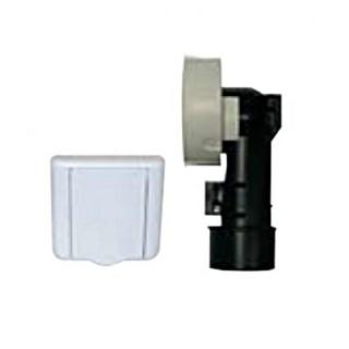 Kit prise pour cloison [- PC72.AC - Réseau Aspiration centralisée - Unelvent]