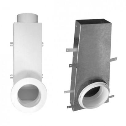 Manchette coudée Ø 80 ou 125 [- accessoire VMC simple ou double flux - Unelvent]