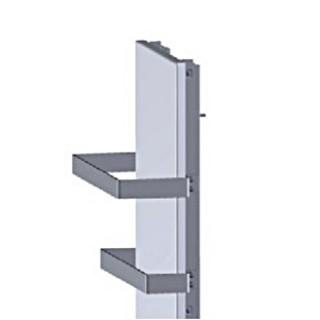 Barres Sèche-serviettes pour MILO ROCK Vertical largeur 400 mm [- LVI]