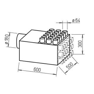 Répartiteur 18 piquages Ø 63 mm [- Collecteur intermédiaire DN 180 - FRS-VK 18-63/180 - Réseau FlexPipe - Helios]