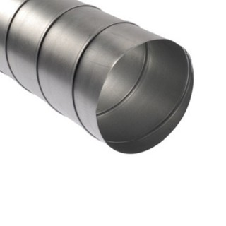 Gaine spiralée galvanisée - Longueurs 2,47 m et 3 m - Ø 80 à 900 mm [- conduits rigides VMC - Atlantic]
