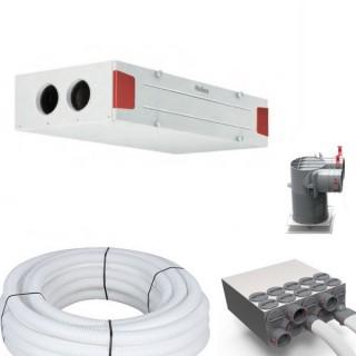 Kit d'installation KWL EC 220 D - Gamme passive [- KWL EC 220 D T2 - VMC Double flux Très Haut Rendement - Helios]
