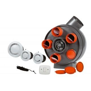 Kit PENTA avec Bouches rondes [- Pack VMC Simple flux Autoreglable - Vortice]