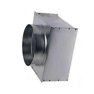 Plénum Ø160 MT F3 pour grille AWA 300x300 [- Entrée d'air VMC Double flux - Aldes]