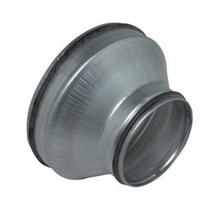 Réduction conique concentrique avec joint - RCC / RCJ [- accessoires galvanisés VMC - Unelvent, Atlantic et Aldès]