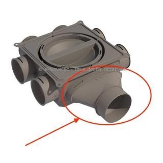 Adaptateur ovale 125 mm pour CDP 6x75 - XAC 125 [- Conduits et accessoires VMC en PE - Réseau Clip & Go - Atlantic]